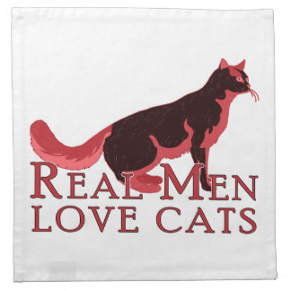 Real Men Love Cats 2 Napkin