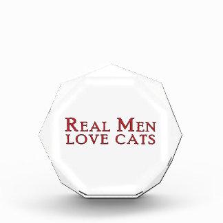 Real Men Love Cats 3 Acrylic Award