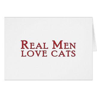 Real Men Love Cats 3 Card