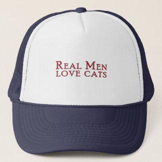 Real Men Love Cats 3 Trucker Hat