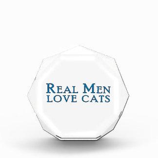 Real Men Love Cats 4 Acrylic Award