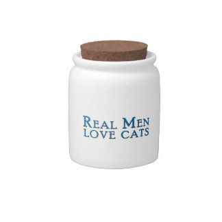 Real Men Love Cats 4 Candy Jars