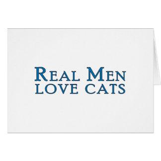 Real Men Love Cats 4 Card