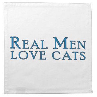 Real Men Love Cats 4 Cloth Napkin