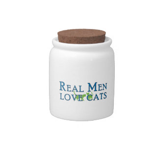 Real Men Love Cats 5 Candy Dish