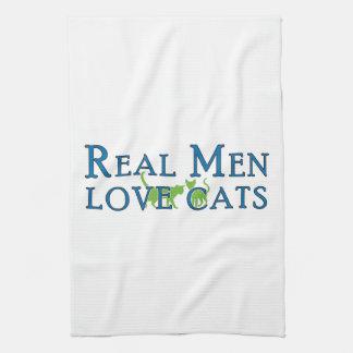 Real Men Love Cats 5 Hand Towels