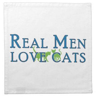 Real Men Love Cats 5 Napkin