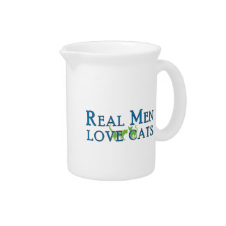Real Men Love Cats 5 Pitcher
