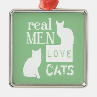 Real Men Love Cats (available in all colours) Christmas Tree Ornaments