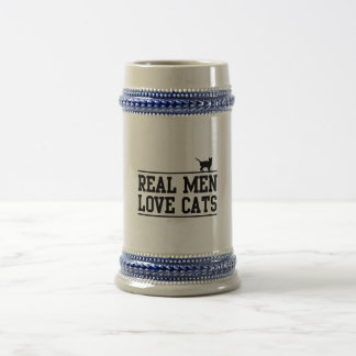 Real Men Love Cats Beer Stein