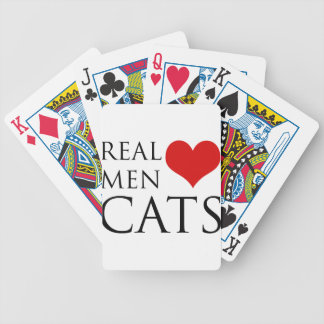 Real Men Love Cats Bicycle Card Decks
