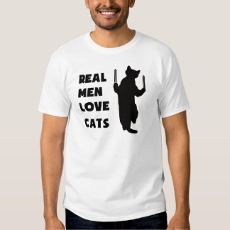 Real Men Love Cats (black) T Shirt