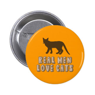Real Men Love Cats Pinback Buttons