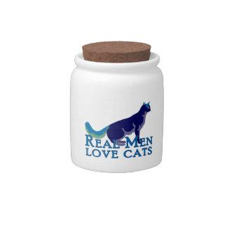 Real Men Love Cats Candy Jar