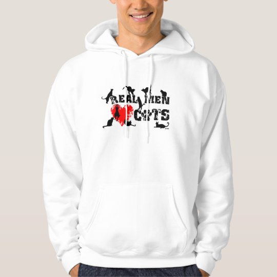 Real men love cats, cats have 9 lives hoodie