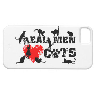 Real men love cats, cats have 9 lives iPhone 5 case