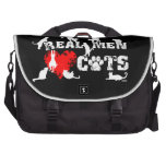 Real men love cats, cats have 9 lives bag for laptop