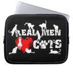 Real men love cats, cats have 9 lives computer sleeves