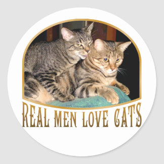 Real Men Love Cats Classic Round Sticker