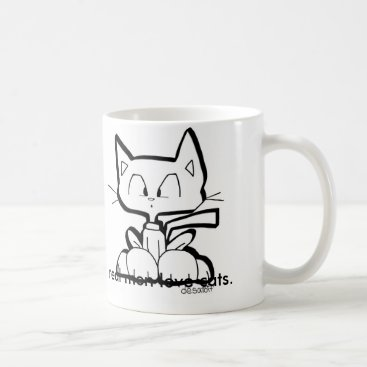 Coffee Themed REAL MEN LOVE CATS coffee mug by Chris Desatoff