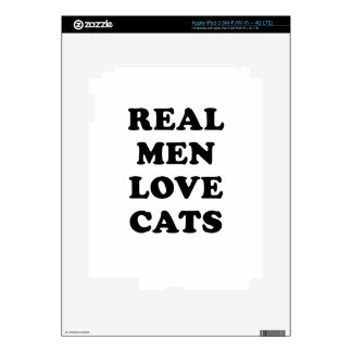 Real Men Love Cats Decal For iPad 3