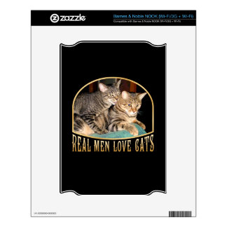 Real Men Love Cats Decal For NOOK