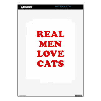 Real Men Love Cats Decal For The iPad 2
