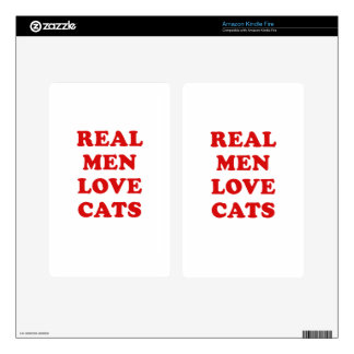 Real Men Love Cats Decals For Kindle Fire