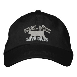 Real Men Love Cats Embroidered Baseball Cap