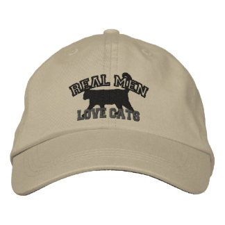 Real Men Love Cats Embroidered Baseball Caps