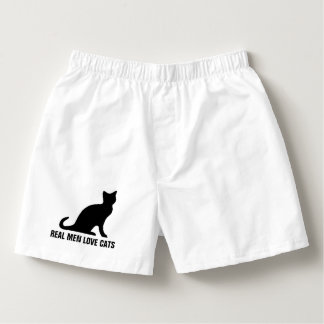 Real men love cats funny boxer shorts underwear
