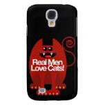 REAL MEN LOVE CATS GALAXY S4 COVER
