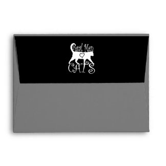 Real Men Love Cats in Style Envelope
