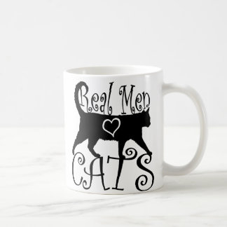 Real Men Love Cats in Stylish Design Coffee Mug