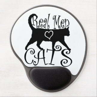 Real Men Love Cats in Stylish Design Gel Mouse Pad