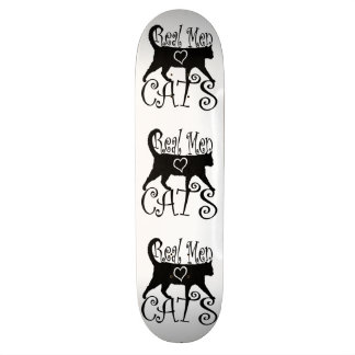 Real Men Love Cats in Stylish Design Skate Board Deck