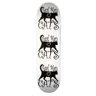 Real Men Love Cats in Stylish Design Skateboard