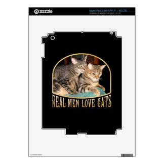 Real Men Love Cats iPad 3 Skins