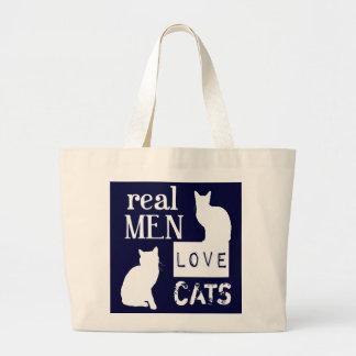 Real Men Love Cats Jumbo Tote Bag
