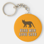 Real Men Love Cats Keychains