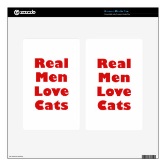 Real Men Love Cats Kindle Fire Decals