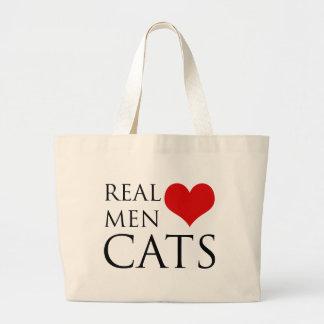 Real Men Love Cats Large Tote Bag