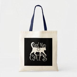 Real Men Love Cats Logotype Tote Bag