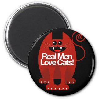 REAL MEN LOVE CATS MAGNET