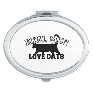 Real Men Love Cats Makeup Mirror