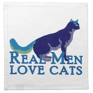 Real Men Love Cats Printed Napkin