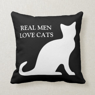Real men love cats pillow cushion