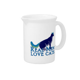 Real Men Love Cats Beverage Pitchers