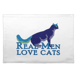 Real Men Love Cats Placemat