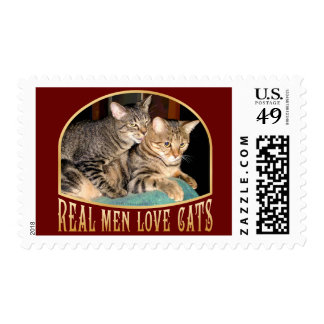 Real Men Love Cats Postage